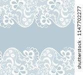 seamless lace border. vector... | Shutterstock .eps vector #1147702277