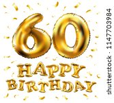 raster copy happy birthday 60th ... | Shutterstock . vector #1147703984