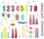 birthday cake candles...   Shutterstock .eps vector #1147704464