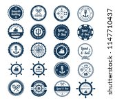 nautical icons for business sign | Shutterstock .eps vector #1147710437