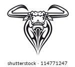 wild buffalo bull head for... | Shutterstock . vector #114771247