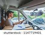 delivery transportation service ... | Shutterstock . vector #1147719401