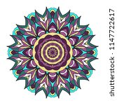 mandala style   color shapes.... | Shutterstock . vector #1147722617