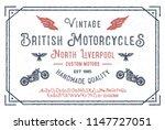 """british motorcycles"". original ... | Shutterstock .eps vector #1147727051"