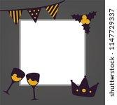 new year congratulation poster... | Shutterstock .eps vector #1147729337