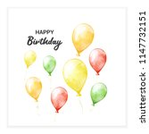 happy birthday background with... | Shutterstock . vector #1147732151