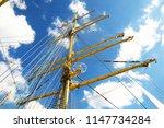 Crane Masts Of A Vey Big...