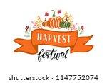 harvest festival   hand drawn... | Shutterstock .eps vector #1147752074