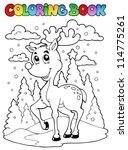 Coloring Book Reindeer Theme 1...