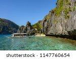 secret lagoon with crystal...   Shutterstock . vector #1147760654