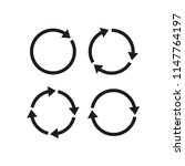 refresh vector icon  circle... | Shutterstock .eps vector #1147764197