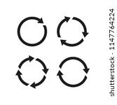 refresh vector icon  circle...   Shutterstock .eps vector #1147764224