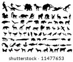 animal silhouettes | Shutterstock .eps vector #11477653