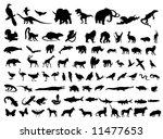 animal silhouettes   Shutterstock .eps vector #11477653