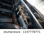 network panel  switch and cable ... | Shutterstock . vector #1147778771
