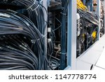 network panel  switch and cable ... | Shutterstock . vector #1147778774