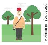 human avatar in uniform ... | Shutterstock .eps vector #1147781807