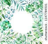 watercolor green illustration... | Shutterstock . vector #1147784531