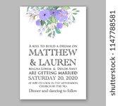 floral wedding invitation... | Shutterstock .eps vector #1147788581