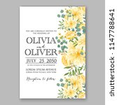 floral wedding invitation... | Shutterstock .eps vector #1147788641