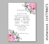 floral wedding invitation... | Shutterstock .eps vector #1147788671