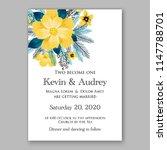 floral wedding invitation... | Shutterstock .eps vector #1147788701