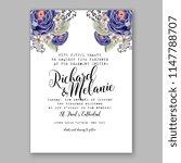 floral wedding invitation...   Shutterstock .eps vector #1147788707
