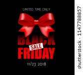 black friday banner with bow | Shutterstock .eps vector #1147788857