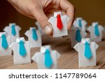 employer chooses takes in hand... | Shutterstock . vector #1147789064