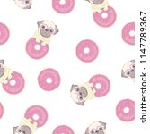 seamless pattern with cute... | Shutterstock . vector #1147789367