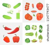 organic farm vegan food... | Shutterstock .eps vector #1147793477