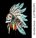 native american peple in... | Shutterstock . vector #1147801091