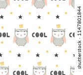 childish seamless pattern with... | Shutterstock .eps vector #1147801844