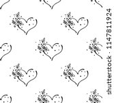hand drawn seamless pattern ... | Shutterstock . vector #1147811924
