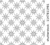 seamless hand drawn pattern ... | Shutterstock . vector #1147811981