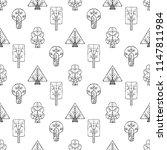 hand drawn seamless pattern ... | Shutterstock . vector #1147811984
