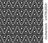 seamless pattern. black and... | Shutterstock . vector #1147812014