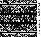 seamless pattern. black and... | Shutterstock . vector #1147812044
