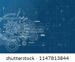 abstract technology background. ... | Shutterstock .eps vector #1147813844