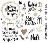set of christmas design... | Shutterstock .eps vector #1147815527