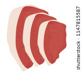 flat boneless red meat in... | Shutterstock .eps vector #1147815587