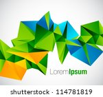 abstract colorful geometric...   Shutterstock .eps vector #114781819