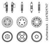 motorcycle parts. suspension...   Shutterstock .eps vector #1147829747