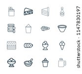 tasty icon. collection of 16... | Shutterstock .eps vector #1147830197