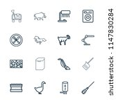 domestic icon. collection of 16 ... | Shutterstock .eps vector #1147830284