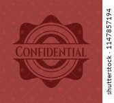 confidential red icon or emblem | Shutterstock .eps vector #1147857194