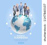 business teamwork concepts.... | Shutterstock .eps vector #1147860107