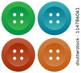 set of colorful sewing buttons | Shutterstock . vector #114786061