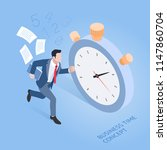 business time concepts.... | Shutterstock .eps vector #1147860704
