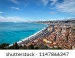 the azure coast and nice in... | Shutterstock . vector #1147866347